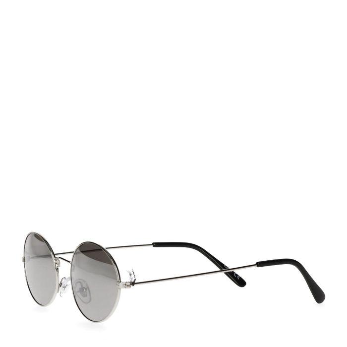 Zonnebril met kleine ovale glazen zilver