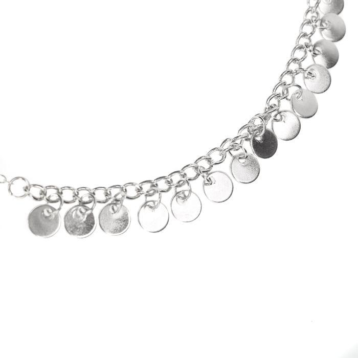 Zilverkleurige ketting met cirkels