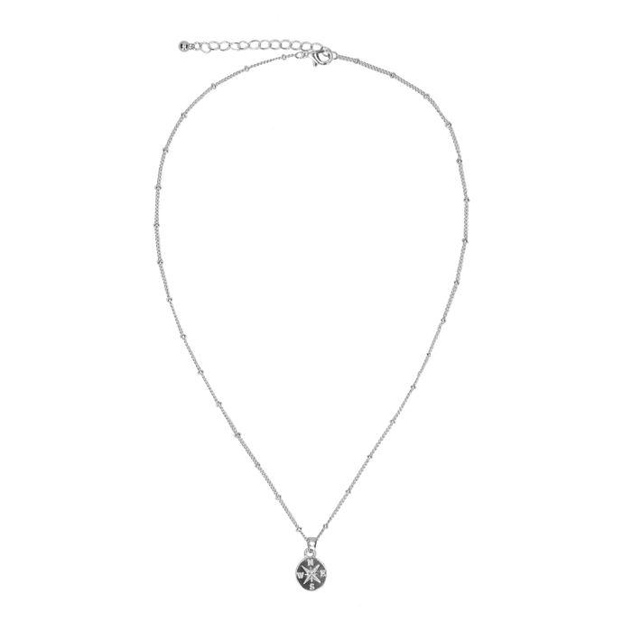 Zilverkleurige ketting met ronde hanger