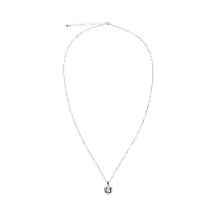 Zilverkleurig kettinkje met hartvormige hanger