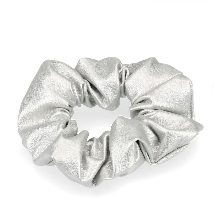 Zilverkleurige scrunchie