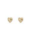 Hartjes oorbellen goud