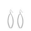 Zilverkleurige ovale oorbellen