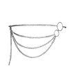 Zilverkleurige chain belt