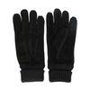 Zwarte suède handschoenen