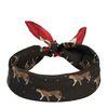 Zwart/rood sjaaltje met luipaardjes
