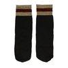Zwarte sokken met goud/rode glitterrand