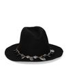Zwarte western hoed met munten