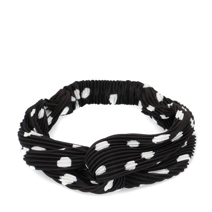 Zwarte haarband met stippen
