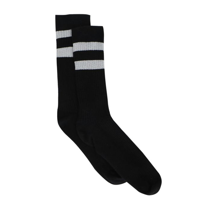 Zwarte sokken met glitterstrepen