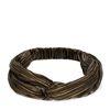 Zwarte haarband met goudkleurige strepen