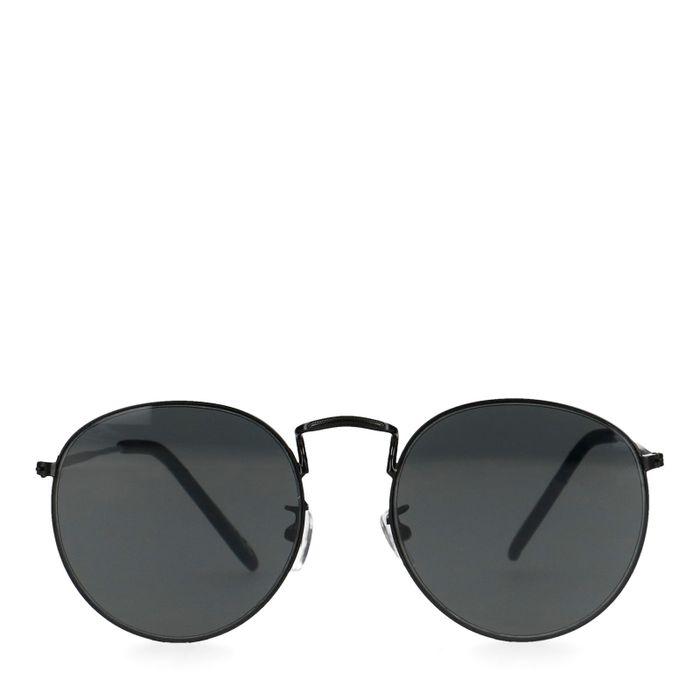 Zwarte ronde zonnebril