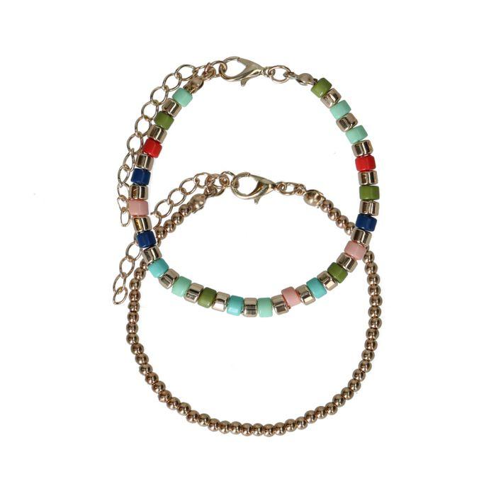 Set van 2 goudkleurige armbandjes
