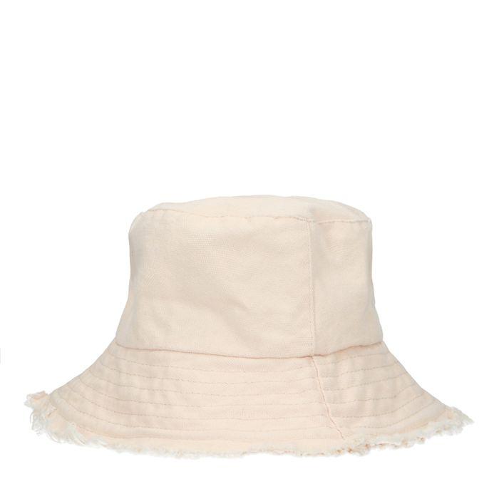 Beige canvas bucket hat