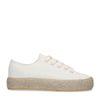 Off white sneakers met touwzool