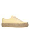 Gele platform sneakers met touwzool