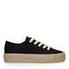 Zwarte sneakers met touwzool