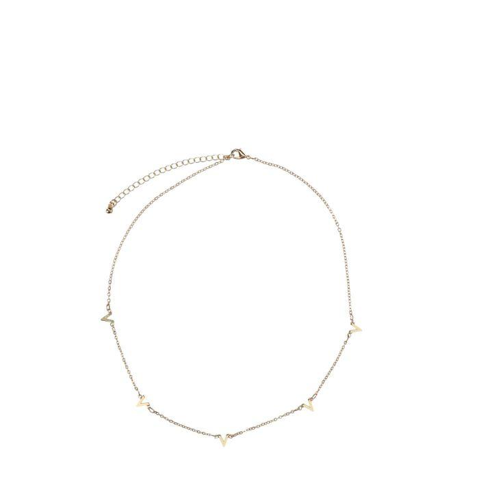 goudkleurige ketting v-shape