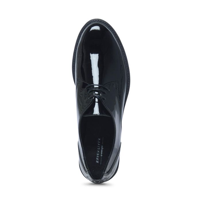 Zwarte veterschoenen lak