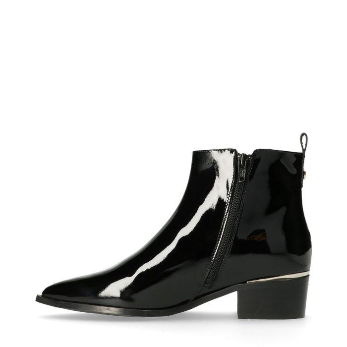 Zwarte lakleren chelsea boots