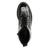 Zwarte lak biker boots met plateau zool