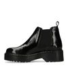 Lak zwarte platform chelsea boots