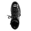 Lak zwarte hiker boots met blokhak