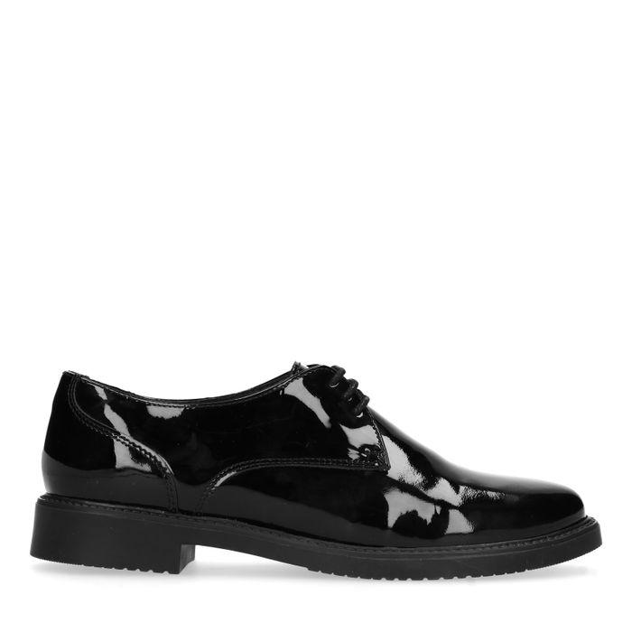Zwarte lak veterschoenen