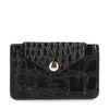 Zwarte portemonnee met crocoprint