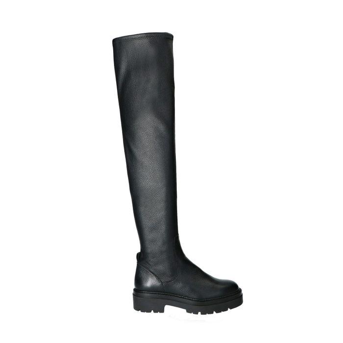 Hoge zwarte chelsea boots