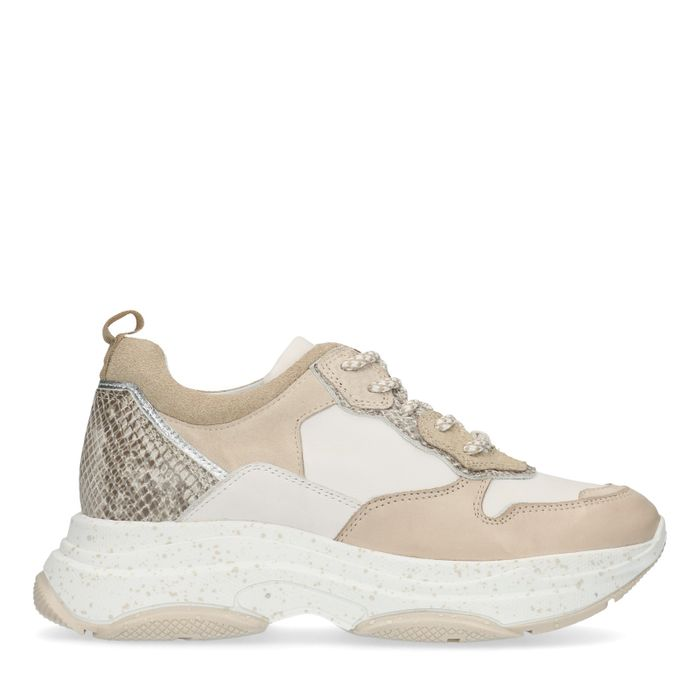 Beige dad sneakers