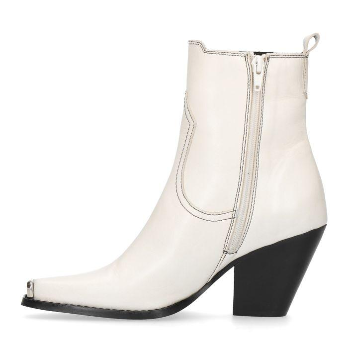 Off-white western boots met metalen neus