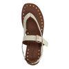 Beige leren sandalen