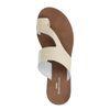 Latte crocoprint slippers