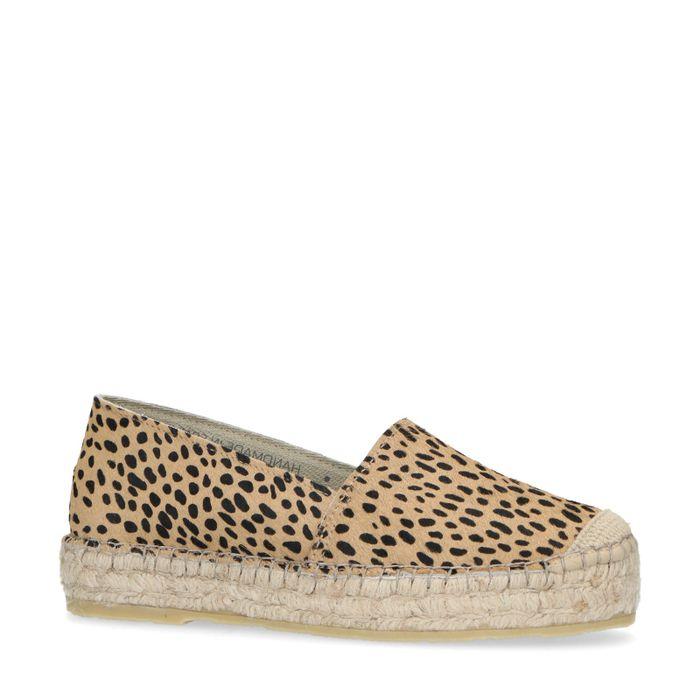 Espadrilles met cheetahprint