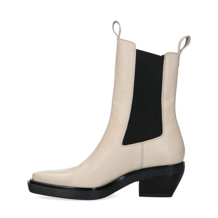Beige chelsea boots met spitse neus