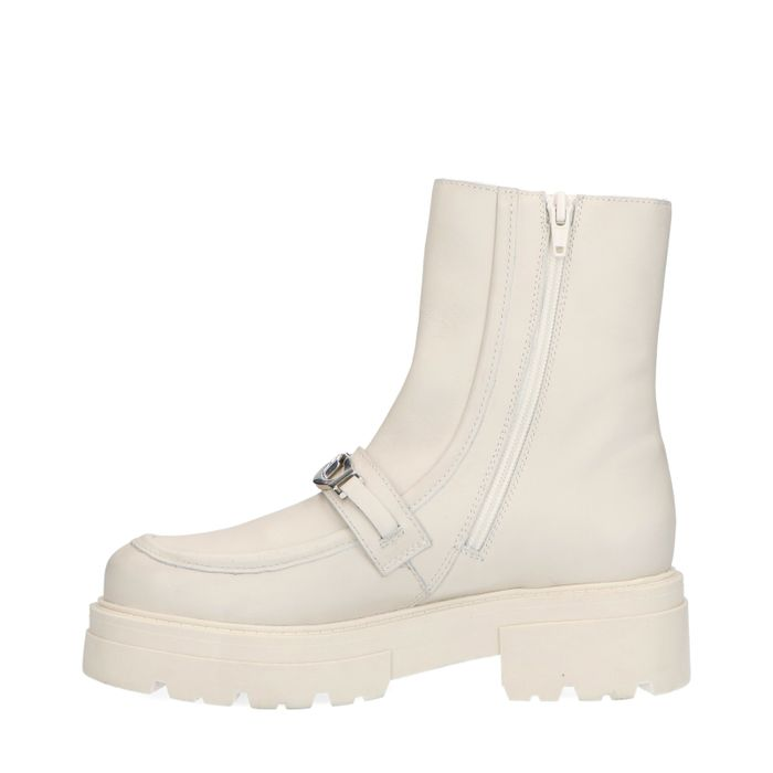 Latte chunky boots met chain
