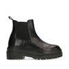 Korte zwarte leren chelsea boots