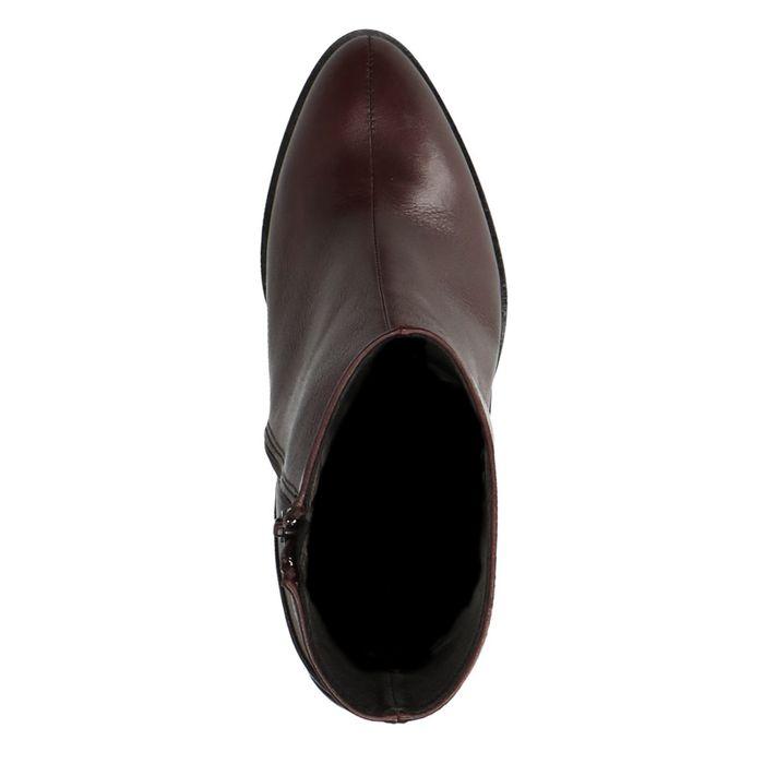 Bordeaux rode korte laarzen met hak