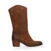 Bruine leren western laarzen