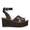 Zwarte plateau sandalen