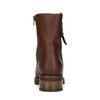 Bruine leren boots met gesp en imitatiebont
