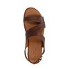 Bruine leren plateau sandalen