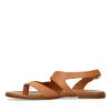 Bruine leren sandalen