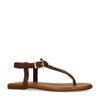 Bruine gevlochten leren sandalen