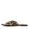 Bruine slippers met tijgerpint