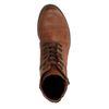Cognac combat boots