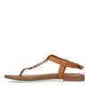 Bruine sandalen met gouden details
