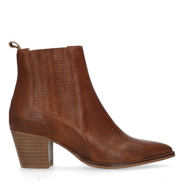 Bruine chelsea boots met hak