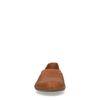 Cognac leren loafers met structuur